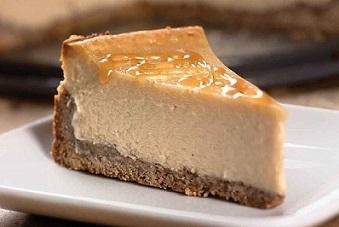Cheesecake met glazuur van wijndruiven-vanilleazijn