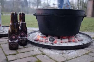 Westmalle stoofkip uit de Dutch Oven