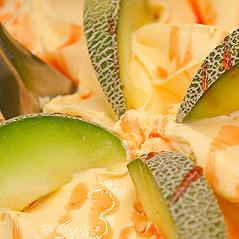 Meloenijs maken met de ijsmachine