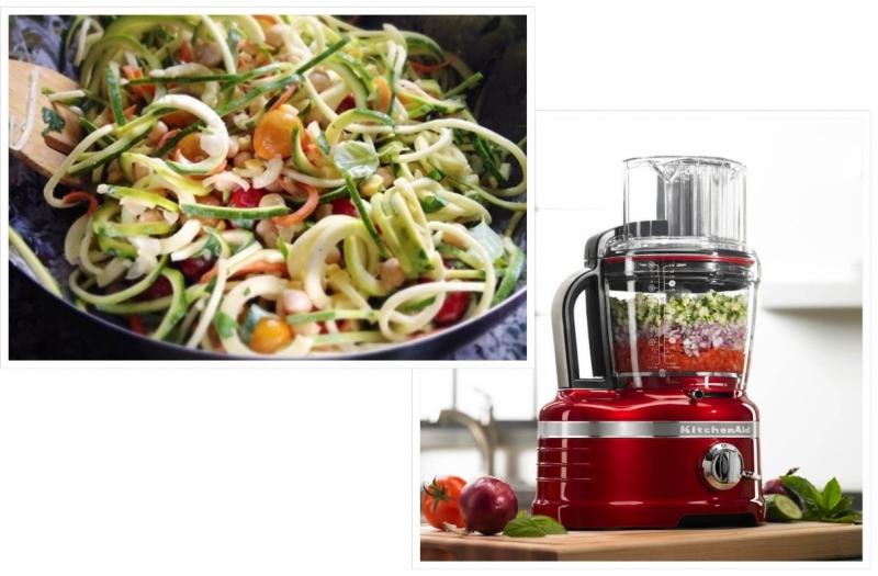 Zomerse salade met Kitchenaid foodprocessor