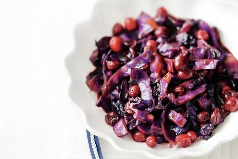 Rode kool met cranberry's