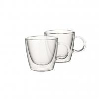Dubbelwandige glazen set van 2