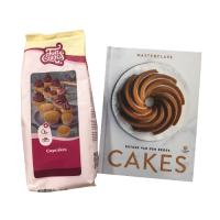 Kookboek cakes en cupcakemix