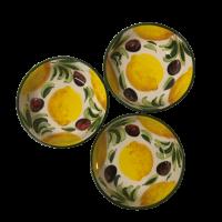 Set 3 schaaltjes citroen